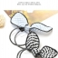 w1382 - Hair Accessories,ที่คาดผม,เครื่องประดับผม,กิ๊ปติดผม,เครื่องประดับ rabbit ears high elastic rubber band thumbnail 4