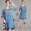 Cute Denim Dress - มินิเดรสผ้าเดนิมเนื้อนิ้มนิ่ม thumbnail 2