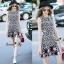 NA11010916 &#x1F389Normal Ally Present Love jacquard skirt dress&#x1F389 (เดรส , มีซับใน, ซิปหลัง) thumbnail 1