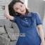 Lady Ribbon Sara Denim Mini Dress with Buttons thumbnail 6