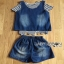 Lady Ribbon Cindy Striped Denim Tank Set thumbnail 9