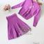 2Sister Made, Purple Beauty Set Comfortable Style Adorn With Cuties Pearl เซ็ตเสื้อ+กระโปรงใส่เข้าชุดกัน thumbnail 6