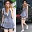 Lady Ribbon Online เสื้อผ้าออนไลน์ขายส่ง Normal Ally เสื้อผ้า NA07150816 &#x1F389Normal Ally Present elegance Chanel Summer set&#x1F389 (เสื้อ + กางเกง,มีซับใน) thumbnail 1