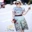 ชุดเซท เสื้อผ้าแฟชั่นเกาหลีสวยๆเสื้อกระโปรงพิมพ์ลายดอกไม้ thumbnail 2