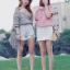 เสื้อแฟชั่นเกาหลีลายสก็อตมี 2 สี thumbnail 2
