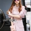 Lady Ribbon Online เสื้อผ้าออนไลน์ ขายส่งของแท้ราคาถููก LR17110716 &#x1F380 Lady Ribbon's Made &#x1F380 Lady Christina Modern Vintage Lace Blouse and Hot skirt Set thumbnail 2