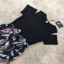 เสื้อผ้าแฟชั่นเกาหลีCliona made'Black Floral Dress thumbnail 5