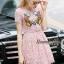 Lady Ribbon Online เสื้อผ้าออนไลน์ ขายส่ง normal ของแท้ NA13140716 &#x1F389Normal Ally Present embroidered flower lace elegance dress&#x1F389 (เดรสลูกไม้งานปัก , ซับในอย่างดีทั้งชุด) thumbnail 3