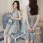 Lady Ribbon Online เสื้อผ้าแฟชั่นออนไลน์ขายส่ง เลดี้ริบบอนของแท้พร้อมส่ง sevy เสื้อผ้า SV12240716 BEST SELLER-Restock &#x1F389Sevy Sleeveless Vintage Hollow Lace Dress thumbnail 1