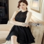 Lady Ribbon Chiara Sexy Elegant Layered Black Chiffon Dress thumbnail 1
