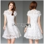 Lady Ribbon Online ขายส่ง เสื้อผ้าออนไลน์ ของแท้ ราคาถูกพร้อมส่ง เลดี้ริบบอน LR08140716 &#x1F380 Lady Ribbon's Made &#x1F380 Lady Michelle Modern Bohemian Fringed Lace Dress thumbnail 1