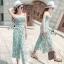 Lady Ribbon Online เสื้อผ้าแฟชั่นออนไลน์ขายส่ง เลดี้ริบบอนของแท้พร้อมส่ง sevy เสื้อผ้า SV07240716 &#x1F389Sevy Stick Stripes Off Shoulder Jumpsuit (+Belt) Type: Jumpsuit thumbnail 2