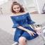 Lady Ribbon Denim Mini Dress ขายมินิเดรส thumbnail 6