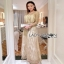 Lady Ribbon Golden Maxi Dress thumbnail 5