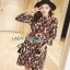 Lady Ribbon Graphic Printed Chiffon Dress เดรสผ้าชีฟอง thumbnail 4