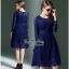 Sleeve Dress เดรสผ้าลูกไม้ตัวยาว thumbnail 2