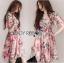 Lady Ribbon Online ขายส่ง เสื้อผ้าออนไลน์ ของแท้ ราคาถูกพร้อมส่ง เลดี้ริบบอน LR04140716 &#x1F380 Lady Ribbon's Made &#x1F380 Gucci Sweet Natural Floral Printed Pink Dress thumbnail 1