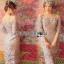 Lady Ribbon Organza and Guipure Lace Dress thumbnail 2