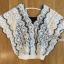 Lady Ribbon ขายส่งเสื้อผ้าออนไลน์พร้อมส่งของแท้ LR16220716 &#x1F380 Lady Ribbon's Made &#x1F380 Lady Vanessa Vintage Scallop Lace Blouse เสื้อผ้าลูกไม้ thumbnail 5