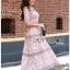 Lady Ribbon Online ขายส่งเสื้อผ้าออนไลน์ Lady Ribbon พร้อมส่ง LR18040816 &#x1F380 Lady Ribbon's Made &#x1F380 Lady Carly Feminine Pinky Striped Lace Maxi Dress เดรสยาวผ้าลูกไม้สี thumbnail 5