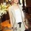 Lady Ribbon Online เสื้อผ้าออนไลน์ขายส่ง Normal Ally เสื้อผ้า,NA09220816 &#x1F389Normal Ally Present Casual cotton linen Blazer and short set&#x1F389 (Blazer + กางเกง , มีซับในอย่างดี) thumbnail 3