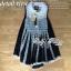 Lady Ribbon Crochet Navy Sleeveless Blouse thumbnail 8