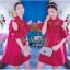 VP04310816 Red Layer Off-Shoulder Short Sleeves MiNi Dress มินิเดรสทรงเชิตสีแดงสวย thumbnail 2