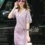 Lady Ribbon Online เสื้อผ้าออนไลน์ ขายส่ง normal ของแท้ NA08140716 &#x1F389Normal Ally Present embroider crystal neck elegant dress thumbnail 4
