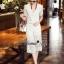 Lady Ribbon Online เสื้อผ้าออนไลน์ขายส่ง Normal Ally เสื้อผ้า,NA12220816 &#x1F389Normal Ally Present Gucci new autumn collection 2016 V-neck shirt and wide leg pant lace set&#x1F389 (เสื้อ+ กางเกงผ้าลูกไม้ , มีซับในอย่างดีทั้งชุด) thumbnail 5