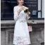 White Lace Dress Lady Ribbon ขายเดรสผ้าลูกไม้ thumbnail 1