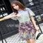 Mixed Printed Chiffon Lady Ribbon Dress เดรสผ้าพิมพ์ลาย thumbnail 2