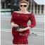 Red Lace Dress เดรสแฟชั่นผ้าลูกไม้ทั้งตัว thumbnail 2