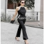 Lady Ribbon Smart Casual Pearl Black Jumpsuit ขายส่งจัมป์สูท thumbnail 2