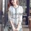 Lady Ribbon Online เสื้อผ้าออนไลน์ขายส่ง Lady Ribbon เสื้อผ้า LR09180816 &#x1F380 Lady Ribbon's Made &#x1F380 Lady Leanne Sweet Feminine Fairy Tale Embroidered Organza Dress เดรสผ้าแก้ว thumbnail 3