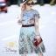 ชุดเซท เสื้อผ้าแฟชั่นเกาหลีสวยๆเสื้อกระโปรงพิมพ์ลายดอกไม้ thumbnail 3