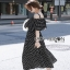 Lady Ribbon Layered Cotton Dress thumbnail 2