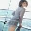 Mini dress. งานฉลุคอปิด แขนยาว ด้านนอกเป็นงานฉลุ thumbnail 5