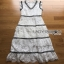 Lady Ribbon Aerin Black and White Lace Dress thumbnail 7