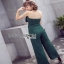 Lady Ribbon Fiona Chic Dark Green Jumpsuit thumbnail 6