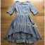 Lady Ribbon Check Cotton Dress with Lace Lining thumbnail 4
