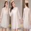 ชุดเดรสผ้าแฟชั่นเกาหลีเนื้อหนาสวย thumbnail 1