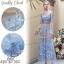 2Sister Maxi Dress แม็กซี่เดรสแฟชั่นลุคสวยหรู เนื้อผ้าเกาหลีตาข่าย thumbnail 1