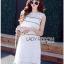 Lady Ribbon Online ขายส่งเสื้อผ้าออนไลน์ ขายส่งของแท้พร้อมส่ง Lady Ribbon LR08250716 &#x1F380 Lady Ribbon's Made &#x1F380 Lady Kate Sporty Sweet White Lace Dress เดรสผ้าลูกไม้ thumbnail 3