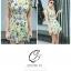 เสื้อแฟชั่น/เดรสเกาหลีแขนกุดผ้าไหมเกาหลีเนื้อผ้าลื่นพริ้ว ลายดอกไม้ thumbnail 14