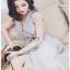 Cut-Out Dress Lady Ribbon ขายเดรสสีเทา thumbnail 3