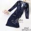 Lovely Beauty Dress เดรสสั้นแฟชั่น เนื้อผ้าเกาหลีกำมะหยี่ thumbnail 4