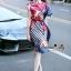 Lady Ribbon Online เสื้อผ้าออนไลน์ขายส่ง Normal Ally เสื้อผ้า NA10180816 &#x1F389Normal Ally Present Elegance Silp scarf dress&#x1F389 thumbnail 4