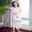 Maxi ผ้าลูกไม้เกาหลีคอเหลี่ยมสีขาว thumbnail 4