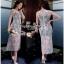 เสื้อผ้าแฟชั่น Maxi Dress แมกซี่เดรสผ้าลูกไม้ see-throughเสื้อผ้าแฟชั่นออนไลน์ thumbnail 1