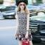 NA11010916 &#x1F389Normal Ally Present Love jacquard skirt dress&#x1F389 (เดรส , มีซับใน, ซิปหลัง) thumbnail 3